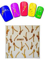 1sheet  Gold Nail Stickers XF6021