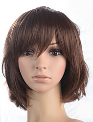 Women Wig Short Bob Synthetic Material Wigs With Bangs Costume Wig Heat Resistant Fiber Hair