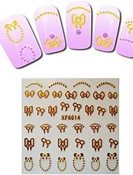 1sheet  Gold Nail Stickers XF6014