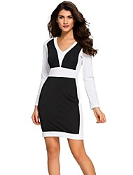 Women's Casual/Daily Sexy Sheath Dress,Solid Strapless Above Knee Sleeveless Polyester White Spring Summer High Rise Stretchy