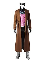 Costumes de Cosplay Costume de Soirée Bal Masqué Pour Halloween Superhéros Cosplay Cosplay de Film Marron Couleur PleineManteau Gilet