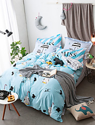 Cartoon Duvet Cover Sets 100% Cotton Bedding Set Queen/Double/Full Size