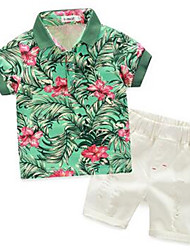 Boy Casual/Daily Print Sets,Cotton Summer Clothing Set