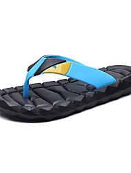 New Men's Slippers Applique Fashion Youth Breathability Flat Heel Flip Flops