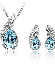 Women's Jewelry Set Crystal Crystal Austria Crystal Drop 1 Necklace 1 Pair of Earrings For Party Wedding Gifts