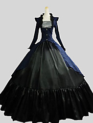 Outfits Gothic Lolita Victorian Cosplay Lolita Dress Solid Poet Long Sleeve Ankle-length Coat Vest Skirt For Cotton