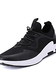 Men's Athletic Shoes Spring Summer Fall Winter Comfort Fabric Microfibre Outdoor Office & Career Casual Athletic Split Joint GoreBlack