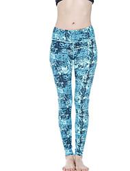 Yoga Pants Leggings Bottoms Comfortable High Elasticity Sports Wear Light Blue Women's 361°® Yoga
