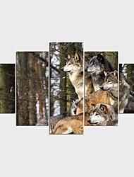 Impression sur Toile Paysage Animal Moderne Classique,Cinq Panneaux Toile Toute Forme Imprimer Art Décoration murale For Décoration