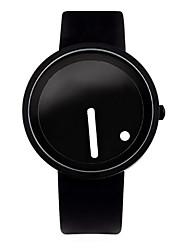 Unissex Relógio de Moda Único Criativo relógio Quartzo Couro Banda Preta marca
