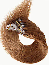 Hot Sale Micro Ring Loop Hair Extensions Brazilian Remy Hair Straight Micro Loop Human Hair Extensions