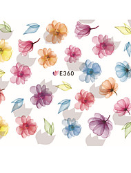 1 pcs Ultra Thin Hand-Painted Flowers Nail Stickers