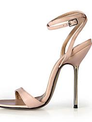 Women's Sandals Summer Ankle Strap PU Party & Evening Dress Stiletto Heel Black Blue Skin