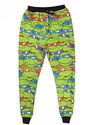 Pantalones Cosplay Vestido  de Lolita Verde Estampado Pantalones Para Hombre Terileno Poliéster