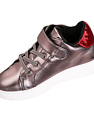 Girl's Sneakers Spring Fall Winter Comfort PU Casual Low Heel Magic Tape Black Pink Gray Other