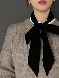 Мисс корея покупке ретро лента лук вогнутая форма длинный бархатный шарф