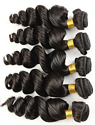 Vinsteen Loose Wave 5 Bundles 7A Brazilian Hair Bundles 8-30 inch Double Weft Human Hair Extensions Dyeable Hair Weaves Hair Extensions