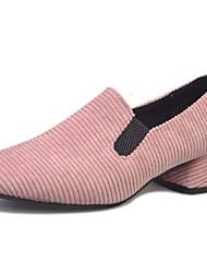 Women's Flats Spring Summer Fall Winter Comfort Light Soles Cowhide Casual Flat Heel Black Green Pink