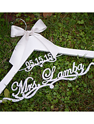 Personalized Wedding Hanger Custom Wedding Dress Hanger with Acrylic Bride Name and Date in Silver