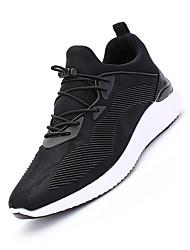 Femme-Sport-Noir Gris Rouge noir-Talon Plat-Confort-Chaussures d'Athlétisme-Cuir