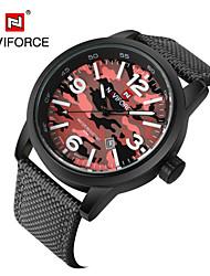 Men's Women's Unisex Sport Watch Military Watch Fashion Watch Wrist watch Calendar Quartz Fabric Band Vintage Casual Multi-Colored