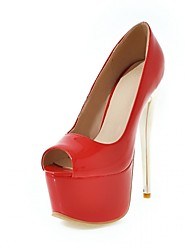 Feminino-Saltos-Conforto Inovador Light Up Shoes-Salto Agulha-Azul Vermelho Vinho-Sintético Courino Couro Ecológico-Casamento Escritório