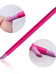 1PCS кварц скрабы камень кутикулы палку ручки ложки вырезать ногтей инструменты для маникюра толкателя