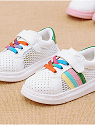 Girl's Sneakers Comfort Leather Outdoor Casual Athletic Green Red Running