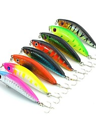 Lot 8 Pcs Fishing Lures Crank Bait Lures Minnow Plastic Bass Trout Lure China Hard Artificial Bait 5.8cm 7.9G