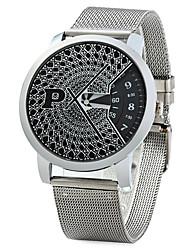 Men's Dress Watch Fashion Watch Quartz Alloy Band Silver Brand
