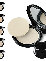 1Pc Face Make Up Puff Cake Cats Style Makeup Pressed Finishing Powder With Powder Puff