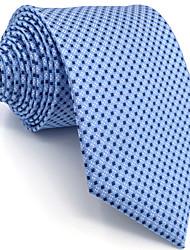 B6 Men's Necktie Tie Blue Dots 100% Silk Business Fashion Wedding For Men