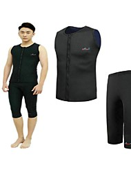 BlueDive® Unisexe 2mm Costumes humides Combinaison Fine Short de Combinaison Garder au chaud Séchage rapide Zip frontal CompressionNylon