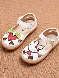 Girl's Sandals Comfort PU Casual Pink White
