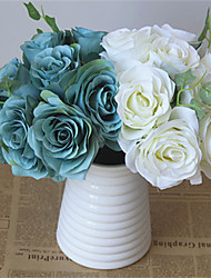 1 Ramo Plástico Outras Rosas Flores artificiais 20*20*23