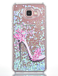 For Samsung Galaxy A7(2016) A5(2016) Case Cover High Heels Pattern Small Fresh Series Love Quicksand Flash Powder Phone Case