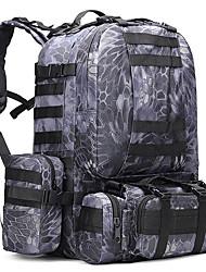 50 L Rucksack Camping & Wandern Draußen Multifunktions Schwarz Dunkelblau Armeegrün Tarnfarben Oxford