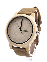 Men's Women's Fashion Watch Quartz / Wood Band Casual Khaki Brand