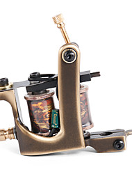Solong Tattoo Custom Brass Tattoo Machine Gun Handmade 12 Wrap Pure Copper Coils for Liner M203-1
