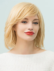 Layered Short Side Bang Pixie Bob Human Hair Wig