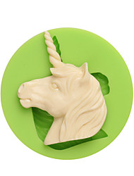 Western Myths and Legends Unicorn Shape Silicone Molds for Candy Chocolate and Cookie Color Random