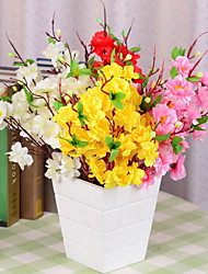 1 Branch 42 Heads Peach Blossom Artificial Flowers (Random color)