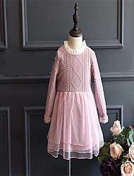 Robe / Ensemble & Combinaison Fille de Couleur Pleine Décontracté / Quotidien Coton Printemps / Automne Rose