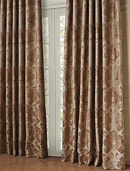 TWOPAGES® Two Panels  Rococo the Crown was Surrounded Energy Saving Curtain Drape
