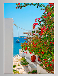 Canvas Set Floral/Botanical Abstract Landscape Classic Mediterranean,One Panel Canvas Vertical Print Wall Decor For Home Decoration