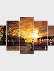 Impression sur Toile Paysage Nature morte Moderne Classique,Cinq Panneaux Toile Toute Forme Imprimer Art Décoration murale For Décoration