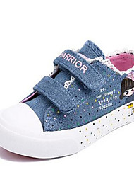 Girl's Sneakers Comfort Canvas Casual Blue Light Blue