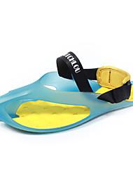 Men's Slippers & Flip-Flops Spring Summer Fall Novelty Silica Gel Rubber Outdoor Casual Flat Heel Magic Tape Blue Yellow White Walking