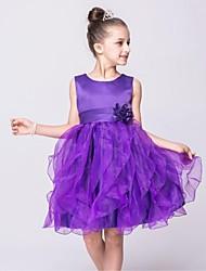 бальное платье длина колена платье девушки цветка - органза без рукавов жемчужина шея с цветком на ydn