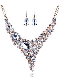 Africa And Europe Exaggerated Bride Necklace Earrings Set